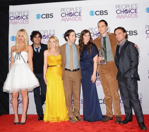 Atores de The Big Bang Theory no People Choice Awards (fonte: www.fanpop.com)