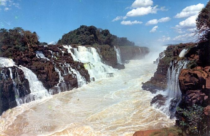 O Slato das Sete Quedas existia até 1982. Depois, virou parte da represa de Itaipu (Fonte: www.opresente.com.br)